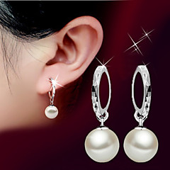 Women's Drop Earrings Pearl Basic Birthstones Fashion Simple Style Costume Jewelry Silver Pearl Sterling Silver Ball Jewelry For Wedding