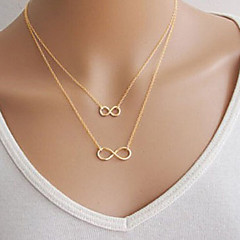 Women's Pendant Necklaces Infinity Alloy Basic Double-layer Costume Jewelry Jewelry For Party Daily Casual