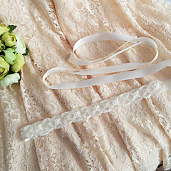 Satin Wedding Party/ Evening Dailywear Sash With Beading Appliques Pearls