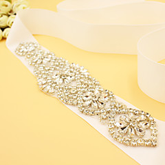Satin Wedding Party/ Evening Sash With Rhinestone