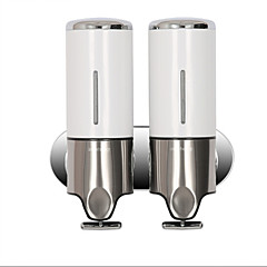 Soap Dispenser Contemporary Stainless Steel + Plastic 1 pc - Hotel bath