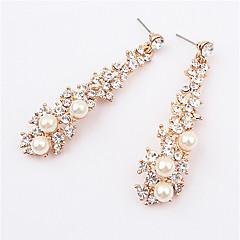 Tropfen-Ohrringe Perle Künstliche Perle Strass Aleación Modisch Farbbildschirm Schmuck 2 Stück