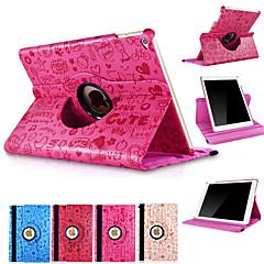 360 Degree Rotating Cute Cartoon PU Leather Stand Smart Sleep Wake Cover Case For iPad Mini 4 (Assorted Colors)
