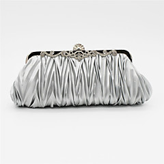 Women s Bags Satin Evening Bag Crystal   Rhinestone Solid Colored Pink    Light gray   Watermelon Pink   Wedding Bags   Wedding Bags 2254dfadac78