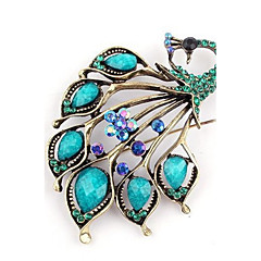 Acrylic / Alloy/Resin Brooch/Women Retro Peacock Brooch/Wedding / Party 1pc