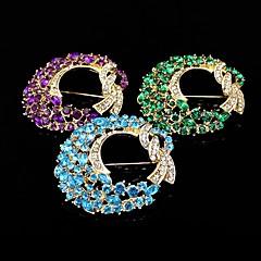 gull plate / rhinestone brosje / kvinner elegant krans brosje / bryllup / fest 1 stk