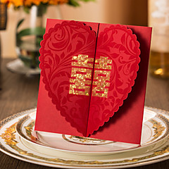 Double Gate-Fold Wedding Invitations 50-Invitation Cards Engagement Party Cards Classic Style Hard Card Paper