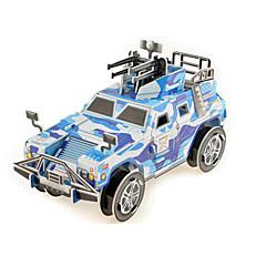 Puzzles 3D - Puzzle Papiermodel Bausteine Spielzeug zum Selbermachen Papier Blau Model & Building Toy