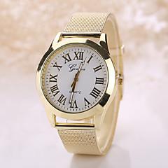 זול תכשיטי גברים-Geneva בגדי ריקוד גברים בגדי ריקוד נשים קווארץ שעון יד שעונים יום יומיים מתכת אל חלד להקה בוהמי אופנתי כסף זהב