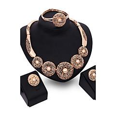 tanie Zestawy biżuterii-Biżuteria Ustaw - Cyrkonia, Pokryte różowym złotem damska, Vintage, Impreza, Moda Zawierać Różowe złoto Na Impreza Specjalne okazje Rocznica Urodziny Prezent / Kolczyki / Naszyjniki