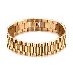 בגדי ריקוד גברים שרשרת וצמידים תכשיטים פלדת על חלד ציפוי זהב תכשיטים עבור Party יומי קזו'אל ספורט Christmas Gifts