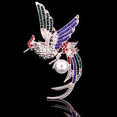 kvinners krystall fung-Hwang phoenix dyr brosje for bryllupsfesten dekorasjon skjerf, fine smykker