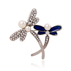 女性 真珠 人造真珠 ラインストーン 模造ダイヤモンド 合金 ファッション ジュエリー 結婚式 パーティー カジュアル