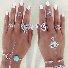 Žene Prstenje sa stavom Prestenje knuckle ring Moda Personalized Prilagodljivo kostim nakit Legura Animal Shape Triangle Shape Jewelry Za