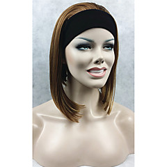 tanie Peruki syntetyczne-Peruki syntetyczne Prosto Gęstość Bez czepka Damskie Karnawałowa Wig Halloween Wig Krótki Włosy syntetyczne