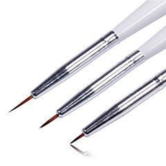 3pcs tırnak kalem set tırnak sanat aracı çizimi renkli
