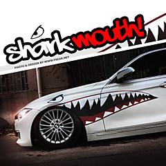 """A mérete 60 """"* 20"""" cool cápa szája fogakkal ho autó karosszéria matrica matrica fényvisszaverő (1 pár)"""