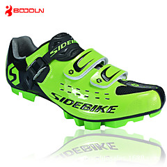 billige Sykkelsko-SIDEBIKE Mountain Bike-sko Vanntett, Anti-Skli, Demping Sykling Svart / Rød / Grønn Herre