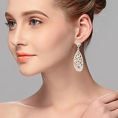 cheap Earrings-Women's Rhinestone Alloy Round Jewelry Silver Costume Jewelry