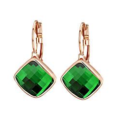 Boucles d'oreille goutte Cristal Zircon Alliage Orange Vert Bijoux 2pcs