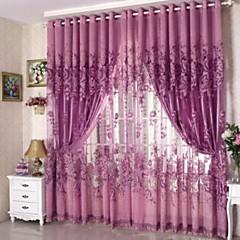 baratos Tratamentos para Janelas-Anéis Único Plissado Um Painel Tratamento janela Regional, Jacquard Sala de Estar Poliéster Material Sheer Curtains Shades Decoração para