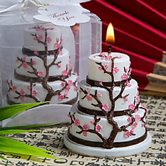 Beautiful Cherry Blossom Design Cake Candle Favor Elegant Wedding Favors