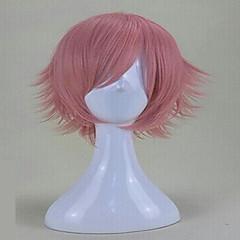 billiga Peruker och hårförlängning-Syntetiska peruker / Kostymperuker Lockigt Syntetiskt hår Rosa Peruk Dam Korta Kostym Peruk / Halloween Paryk / Karneval peruk