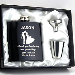 cheap Groomsmen Gifts-Personalized Stainless Steel Barware & Flasks Hip Flasks Bride Groom Bridesmaid Groomsman Couple Parents Wedding Anniversary Birthday