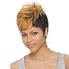 billiga Peruker och hårförlängning-Syntetiska peruker Lockigt Pixie-frisyr / Med lugg Syntetiskt hår Blond Peruk Dam Korta Cosplay Peruk / Kostym Peruk / Halloween Paryk