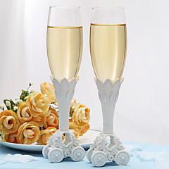 Blyfrit Glas Ristning Flutes 1 pair Ikke-personaliseret Gaveæske