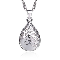 Women's Pendant Necklaces Jewelry Silver Sterling Silver Fashion Costume Jewelry Jewelry For Gift Daily Casual
