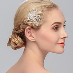 ריינסטון שיער מסרקים headpiece מסיבת החתונה אלגנטי בסגנון נשי