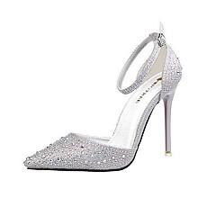 Chaussures Femme-Mariage / Habillé / Soirée & Evénement-Noir / Rose / Argent / Or / Fuchsia-Talon Aiguille-Talons / Bout Pointu-Talons-