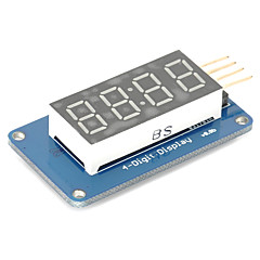 cheap -4 Bits Digital Tube LED Display Module with Clock Display TM1637 for Arduino Raspberry PI