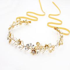 baratos Bijuteria para Cabelos-Cristal Strass Liga Headbands 1 Casamento Ocasião Especial Ao ar livre Capacete