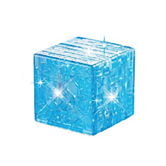 cheap -Building Blocks Magic Cube 3D Puzzles Jigsaw Puzzle Crystal Puzzles 3D DIY Crystal ABS Christmas