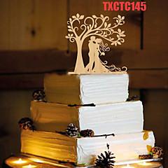 Kakepynt Ikke-personalisert Klassisk Par Harpiks Bryllup Gul Sommerfugl Tema 1 OPP