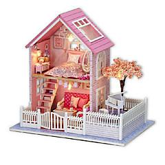 billiga Leksaker och spel-chi fun house diy hytt rosa körsbärshandmonterade modell hus kreativa födelsedagspresent att skicka flickor flickvänner