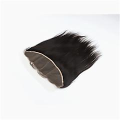 billiga Peruker och hårförlängning-Malaysiskt hår Rak / Klassisk / Silky rakt Fria delen Schweizisk spetsperuk Äkta hår Dagligen