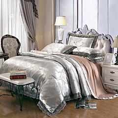 billiga Påslakan-Påslakan Sets Blommig Modal / Tencel / Cotton Jacquard 4 delarBedding Sets / >800