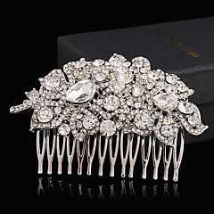 rhinestone alloy hair combs headpiece klassinen naisellinen tyyli