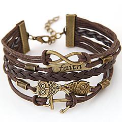 billiga -Dam Oändlighet Ankare Armband av Remmar Friendship Armband - Personlig Vintage Multi lager Handgjord Inspirerande Europeisk Uggla