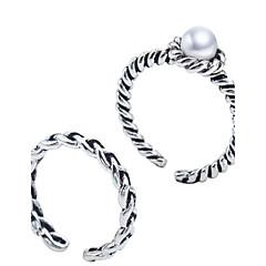 Χαμηλού Κόστους Ασημένιο Δαχτυλίδι-Γυναικεία Band Ring / Midi Ring - Μαργαριτάρι, Ασημί Βίντατζ, Μοντέρνα Ένα Μέγεθος Ασημί Για Πάρτι / Καθημερινά / Causal
