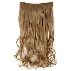 levne Syntetické příčesky-Rozšíření lidský vlas Vysoká kvalita Vlnitá Klasický Dámské Denní