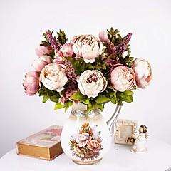povoljno Umjetno cvijeće-Umjetna Cvijeće 1 Podružnica Europska Style Peonies Cvjeće za stol