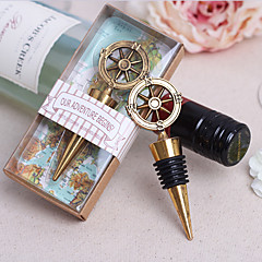 Classic Theme Bottle Stoppers Chrome Bottle Favor With Ring Wedding Favors