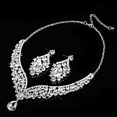 cheap Jewelry Sets-Women's Rhinestone Jewelry Set Include Earrings Necklaces - Alloy For Wedding Party Special Occasion Anniversary Birthday Engagement