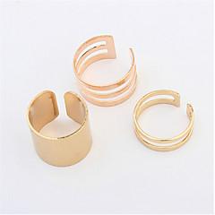 指輪 女性用 / 男性用 / カップル用 ストーン無し 合金 合金 調整可 / 6 ゴールド / 銀 色とスタイルの表現は、モニターによって異なる場合があります.誤植または絵のエラーの責任を負いません.