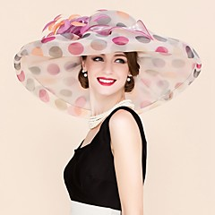levne Klobouk na party-organza fascinators klobouky headpiece elegantní klasický ženský styl