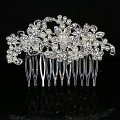 Μαργαριτάρι Κρύσταλλο Στρας Κράμα Χτενιές Μαλλιών Headpiece